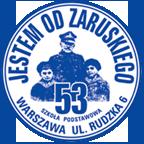 Logo Szkoły Podstawowej nr 53 im. Generała Mariusza Zaruskiego